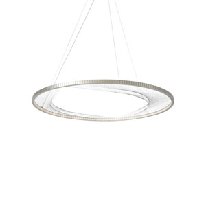 Interlace Satin Nickel 45-Inch LED Chandelier