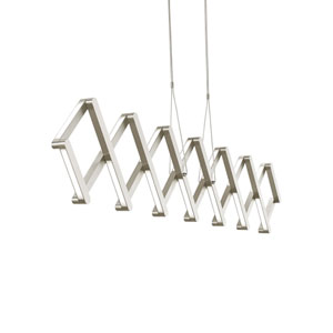 Xterna Satin Nickel LED Suspension Pendant