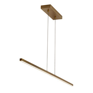 Essence Aged Brass 1-Inch LED Linear Pendant