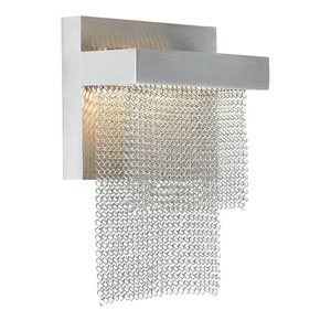 Camelot Stainless Steel LED Wall Sconce with Chain Shade