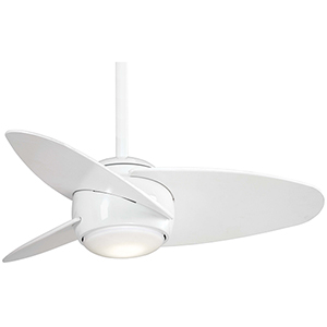 Slant White LED Ceiling Fan