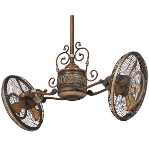 Traditional Gyro Belcaro Walnut 42-Inch LED Ceiling Fan