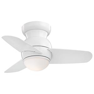 Spacesaver LED White LED Ceiling Fan