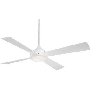 Aluma Flat White 52-Inch LED Ceiling Fan