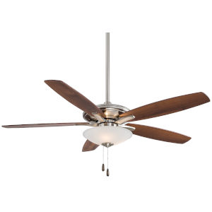 Mojo Brushed Nickel 52-Inch Three-Light LED Ceiling Fan