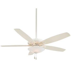 Mojo Bone White 52-Inch Three-Light LED Ceiling Fan