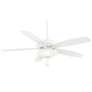Mojo White 52-Inch Three-Light LED Ceiling Fan