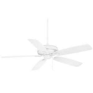 Sunseeker Flat White 60-Inch Indoor Outdoor Ceiling Fan