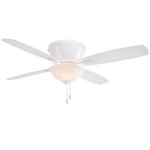 Mojo II White 52-Inch LED Hugger Fan