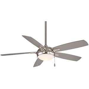 Lun-Aire Brushed Nickel LED Ceiling Fan