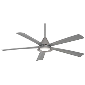 Cone Silver LED Ceiling Fan