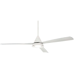 Cone White LED Ceiling Fan