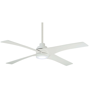 Swept Flat White LED Ceiling Fan