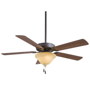 Contractor Unipack Oil Rubbed Bronze 52-Inch Ceiling Fan With Excavation Glass