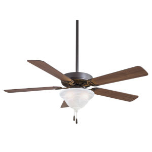 Contractor Unipack Oil Rubbed Bronze 52-Inch Ceiling Fan With Rtched Swirl Glass