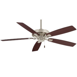 Watt Polished Nickel 52-Inch Ceiling Fan