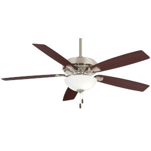 Watt II Polished Nickel 60-Inch LED Ceiling Fan