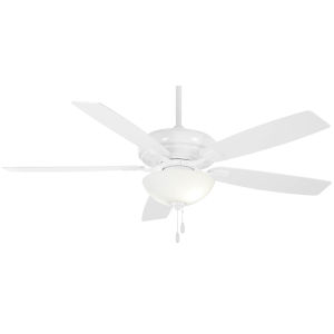 Watt II White 60-Inch LED Ceiling Fan