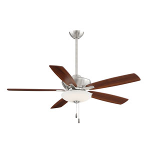 Minute Brushed Nickel and Dark Walnut 52-Inch Energy Star LED Ceiling Fan