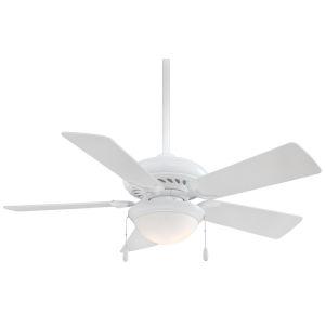 Supra White 44-Inch LED Ceiling Fan