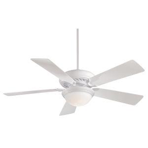 Supra White 52-Inch LED Ceiling Fan
