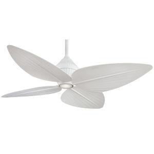 Gauguin Flat White 52-Inch LED Outdoor Ceiling Fan