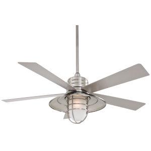 Rainman Brushed Nickel Wet 54-Inch One-Light Outdoor Ceiling Fan