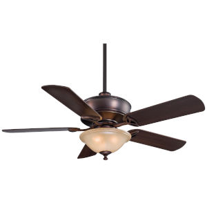 Bolo Dark Brushed Bronze 52-Inch Three-Light LED Ceiling Fan
