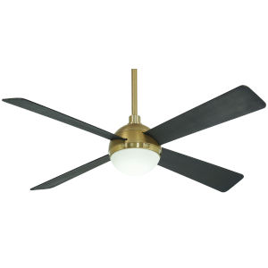 Orb Soft Brass 54-Inch Ceiling Fan
