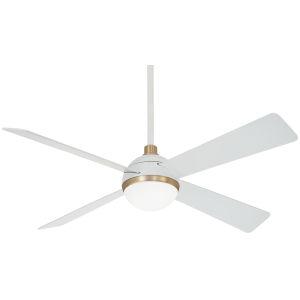Orb Flat White 54-Inch LED Ceiling Fan