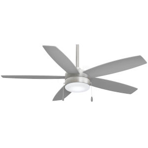 Airetor Brushed Nickel with Silver 52-Inch LED Smart Ceiling Fan
