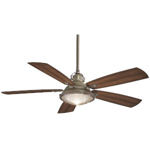 Groton Weathered Aluminium and Dark Pine 56-Inch LED Outdoor Ceiling Fan