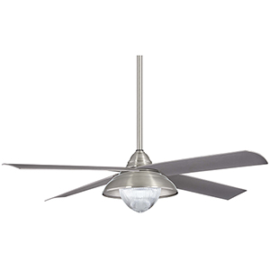 Shade Brushed Nickel LED Ceiling Fan