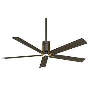 Clean Oil Rubbed Bronze and Toned Brass LED Ceiling Fan
