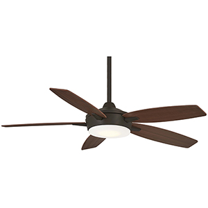 Espace Oil Rubbed Bronze and Medium Maple LED Ceiling Fan