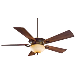 Delano Dark Restoration Bronze 52-Inch Two-Light LED Ceiling Fan