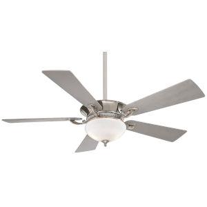 Delano Polished Nickel 52-Inch Two-Light LED Ceiling Fan