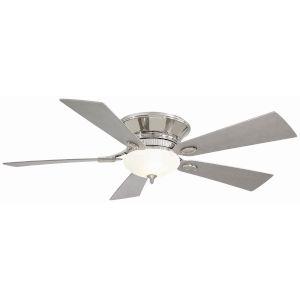 Delano II Polished Nickel 52-Inch Two-Light LED Ceiling Fan