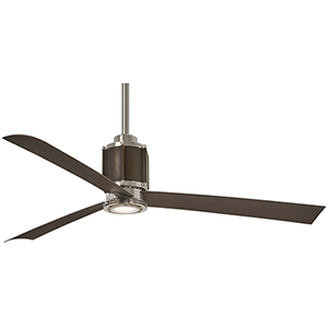 Gear Polished Nickel and Oil Rubbed Bronze LED Ceiling Fan