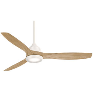 Skyhawk Flat White 60-Inch LED Ceiling Fan