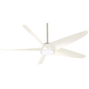 Ellipse Brushed Nickel with White 60-Inch LED Smart Ceiling Fan