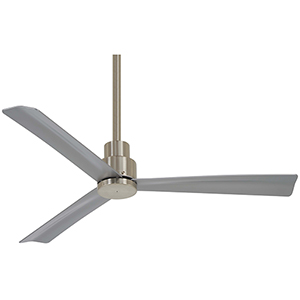 Simple Brushed Nickel Ceiling Fan