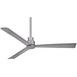 Simple Silver Ceiling Fan