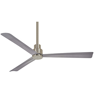 Simple Brushed Nickel Outdoor Ceiling Fan