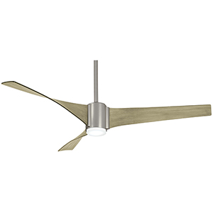 Triple Brushed Steel LED Ceiling Fan