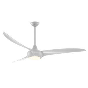 Light Wave Silver 65-Inch LED Ceiling Fan