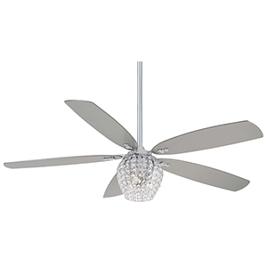 Bling Chrome LED Ceiling Fan