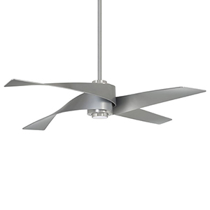 Artemiso IV Brushed Nickel and Silver LED Ceiling Fan