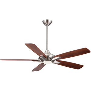 Dyno Brushed Nickel LED 52-Inch Ceiling Fan