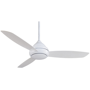 Concept I White 58-Inch Outdoor LED Ceiling Fan